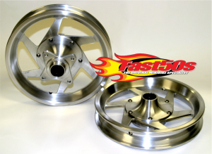 "Fast50s - Fast50s Silver Billet Wheels 10"" or 12"" Available"