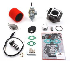 Trail Bikes - Trail Bikes 88cc Big Bore Kit + 20mm Carburetor Kit + Race Cam Performance Kit - Z50  XR50  CRF50 (Stock head)