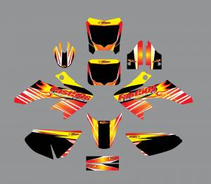 Fast50s - Fast50s Firestorm Graphics Kit - Honda CRF50