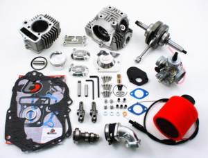 Trail Bikes - Trail Bikes  117cc 54mm Big Bore Stroker Kit Roller Rocker V2 Race Head and VM26 Carb Kit - Z50  XR50  CRF50  XR70  CRF70