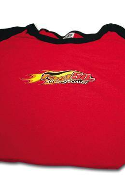 Fast50s - Women's Red Capsleeve Shirt - Image 1