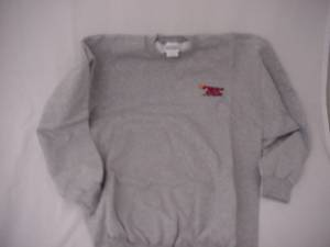 Fast50s - Fast50s Crew Embroidered Sweatshirt Grey 50% OFF - Image 1