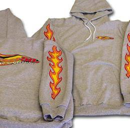 Fast50s - Fast50s Hooded Sweatshirt with Flames  - Image 1