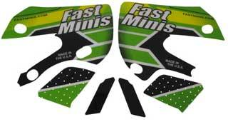 FastMinis - FastMinis Electric Green Graphics - KLX110  DRZ110 (CLOSEOUT) - Image 1