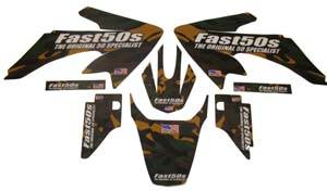 Fast50s - Fast50s Jungle Camo Graphics-Honda crf50