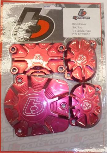 Trail Bikes - Trail Bikes V2 RED BILLET HEAD COVER SET