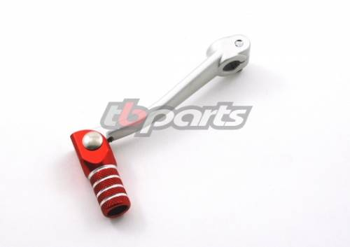 Trail Bikes - Trail Bikes GEAR SHIFTER, STOCK LENGTH, ALUMINUM WITH RED FOLDING BILLET TIP -  Z50  XR50  CRF50  XR70  CRF70  CT70