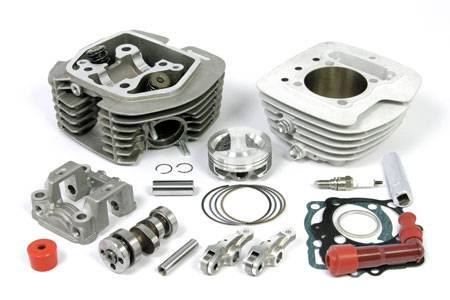 Takegawa - Takegawa SuperHead+R Bore Up Kit (S-CUT)  Ape / XR / CRF100 (136cc Stage-3 plated cylinder)