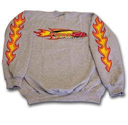 Fast50s Clothing & Accessories - Fast50s - Fast50s Crew Neck Sweatshirt with Flames