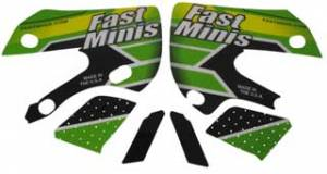 FastMinis - FastMinis Electric Green Graphics - KLX110  DRZ110 (CLOSEOUT)