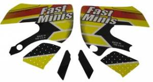 FastMinis - FastMinis Electric Yellow Graphics - KLX110  DRZ110