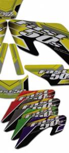 Honda XR70 - CRF70  - APPEARANCE - Fast50s - Fast50s Electric Skins Graphics for 00-03 xr50 (Close out item)