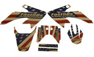 Honda XR50 - CRF50 - APPEARANCE - Fast50s - Fast50s USA Patriot Graphics - Honda CRF50