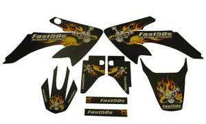 Honda XR50 - CRF50 - APPEARANCE - Fast50s - Fast50s Skull Graphics for Honda crf50