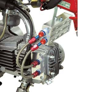 Honda XR70 - CRF70  - POWER - Takegawa - Takegawa Billet Oil Cooler for Super Head