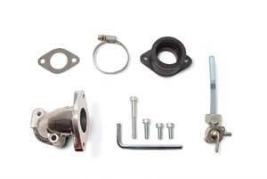 Honda XR50 - CRF50 - Takegawa - Takegawa Inlet Pipe for VM26 Carb - includes bolts and insulator