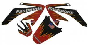 Honda XR70 - CRF70  - APPEARANCE - FastMinis - FastMinis Team Issue Graphics for Honda CRF70