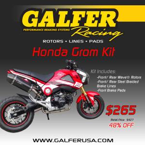 Road Racing - SuperMoto - Slide - Galfer - Galfer Complete Brake Kit - Honda Grom  MSX125