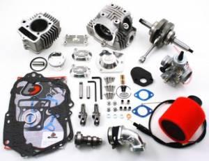 Trail Bikes 108cc Big Bore Kit + V2 Race Head + Stroker Crank + 26mm Carb Kit - Z50 XR50 CRF50 XR70 CRF70