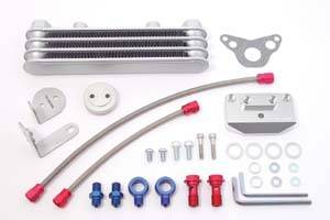 Honda Grom - MSX125 - Takegawa - Takegawa Honda Grom Optional 3 OR 4 Fin Oil Cooler kit