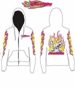 Fast50s - Fast50s Ladies Limited Edition Hoodie Zip Up - WHITE - Image 3