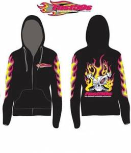 Fast50s - Fast50s Ladies Limited Edition Hoodie Zip Up - BLACK - Image 2