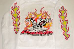Fast50s Clothing & Accessories - Fast50s - Fast50s Ladies Limited Edition Hoodie Zip Up - WHITE